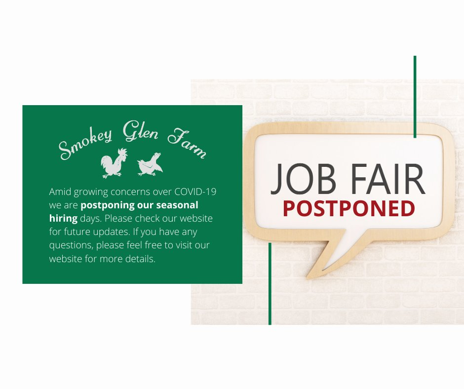 Job Fair Postponed